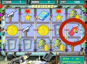 игровой автомат резидент бонусный символ
