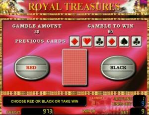 Игра на удвоение Royal Treasures