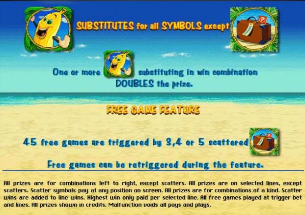Игровой автомат Бананы (Bananas go Bahamas) бонусы